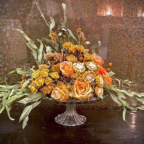 Coupe de fleurs sechees