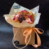 Bouquet fleurs séchées Mix avec fibres