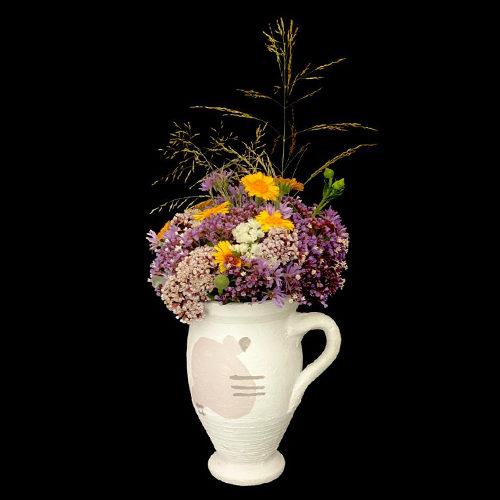 vase fleurs sechees